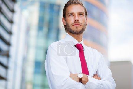 Nordic blond businessman