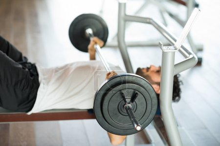 Bodybuilder lifting a weight