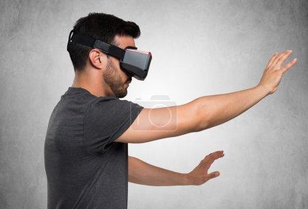 man using a VR headset