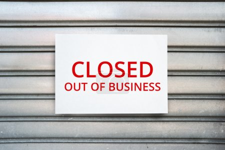 Closed out of business sign