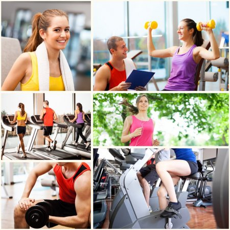 People working out and having fun