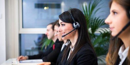 Female customer support portrait