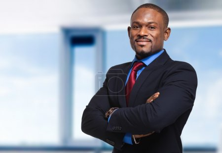 Young black businessman outdoor