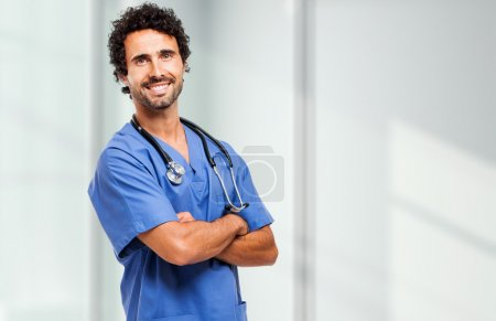 Handsome young male nurse