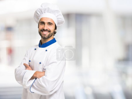 Smiling mature chef