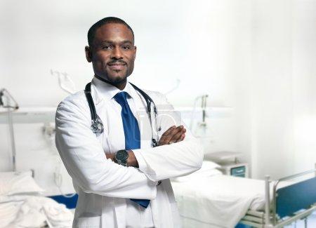 Smiling doctor at hospital