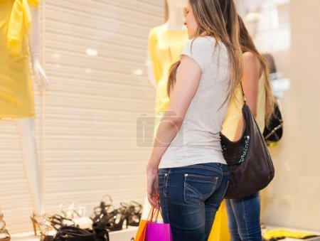 Women doing shopping