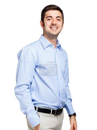 Photo pour Portrait d'un jeune homme d'affaires confiant - image libre de droit