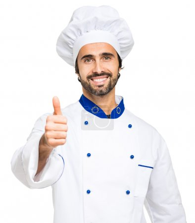 Successful smiling chef