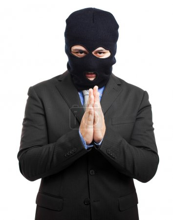 Politician dressed as a thief