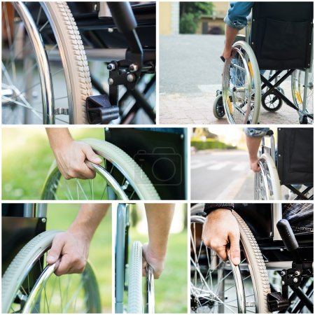 paralized people using wheelchair