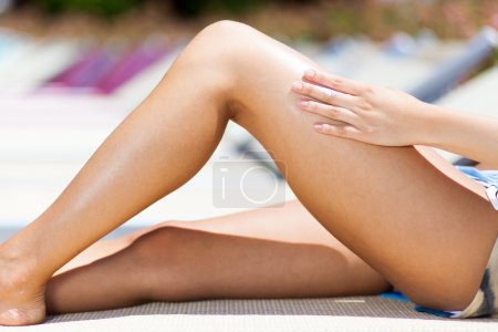 Photo for Beautiful young woman relaxing - Royalty Free Image