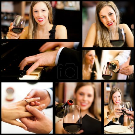 people drinking wine in restaurant