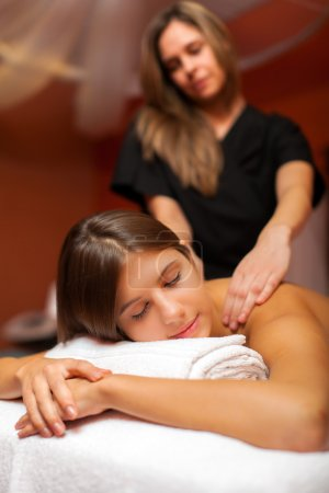 woman having an massage