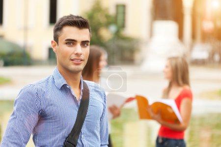 university students outdoors