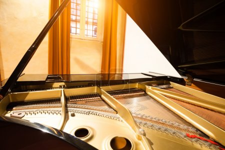 piano in a concert room