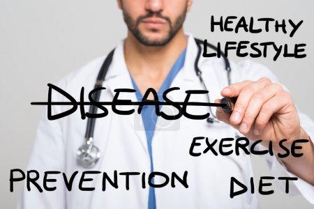 doctor writing Healthy lifestyle concept