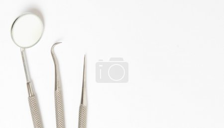 Dental tools and dental care concept