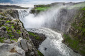 Beautiful waterfall Dettifoss in Iceland