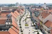 Pedestrian zone in Trnava, Slovakia