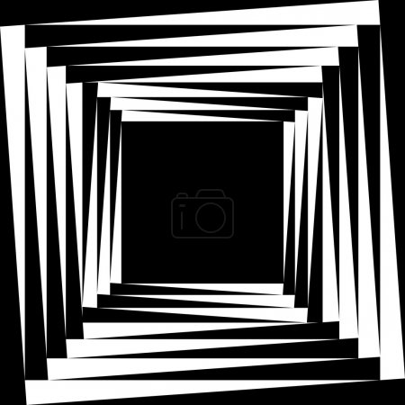 Illustration pour Cadre créé à partir de carrés légèrement tournés - image libre de droit