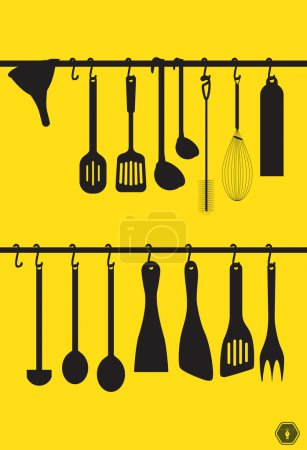 Collection kitchen utensils