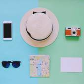 Travel items background