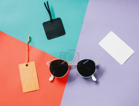 fashionable sunglasses with blank tags