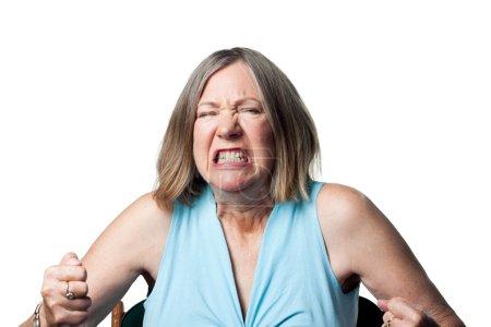 Photo pour Femme est bouleversée et en colère, laisser tout ça - image libre de droit