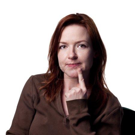Photo pour Jolie femme dans le studio, image isolé - image libre de droit
