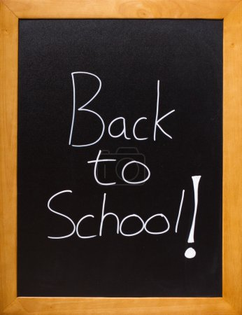 Photo for Blackboard showing a fun back to school message - Royalty Free Image