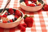 Ice Cream and Fruit Dessert