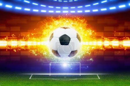 Soccer ball in fire