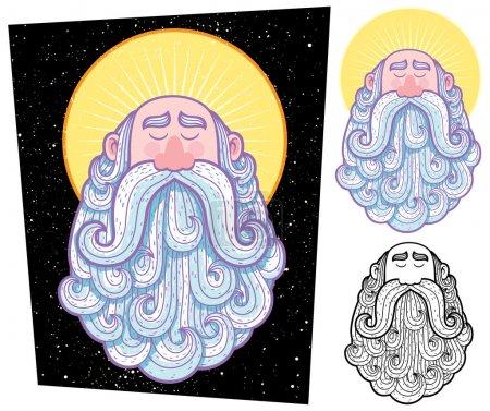 Saint Cartoon Illustration