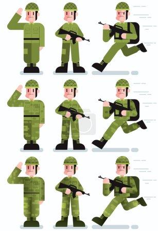 Soldier Flat Design