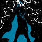 Vector illustration of Scandinavian god Thor in 3 ...