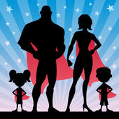 Square banner of superhero family No transparency used Basic (linear) gradients