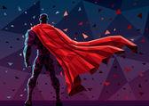 Abstract illustration of  superhero