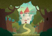 Cartoon fantasy castle No transparency used Basic (linear) gradients