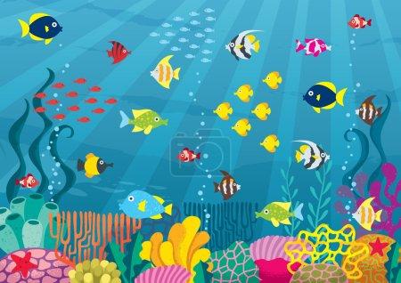 Cartoon undersea world