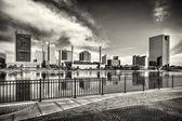 Toledo Ohio City Skyline Black and White