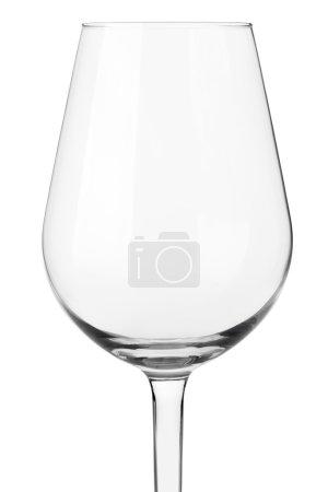 Photo pour Verre à vin vide près isolé sur blanc, chemin de coupe inclus - image libre de droit