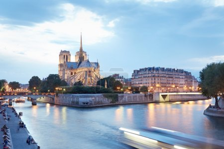 Notre Dame de Paris in the evening