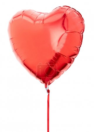 Red heart balloon with ribbon