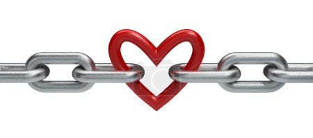 Photo for Chain with heart - Royalty Free Image