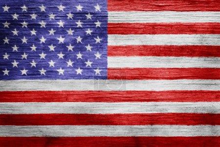 Worn vintage American flag background