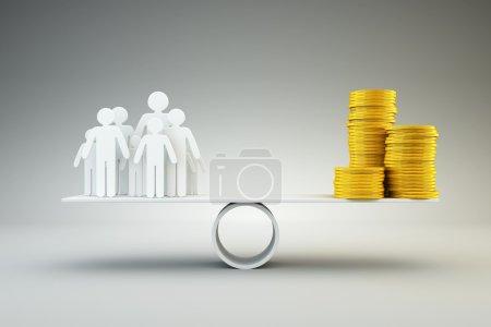 Photo pour Famille et argent - image libre de droit