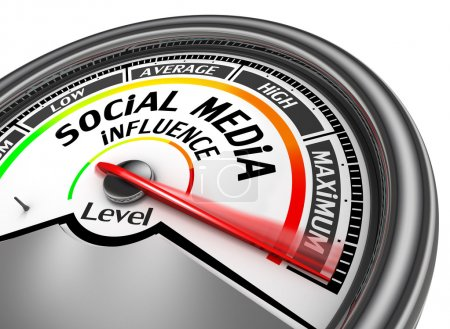 Social media influence level to maximum modern con...