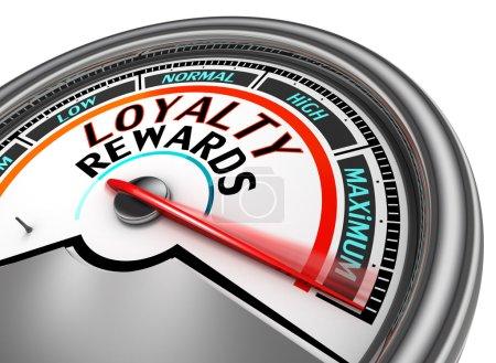 Loyalty rewards conceptual meter indicate maximum