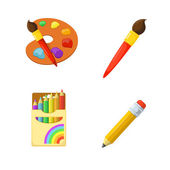Children creativity Painting drawing and coloring Education design elements